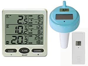 funk poolthermometer ft0075 pool mit 2 funksensoren elektronik. Black Bedroom Furniture Sets. Home Design Ideas