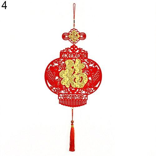 Aufhängen Anhänger Ornament Fu Spring Festival Viel Glück Home Decor Einheitsgröße 4# (Chinese New Year Dekoration Zubehör)