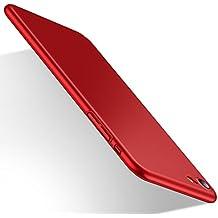 Cover iPhone 7, HUMIXX Custodia Ultra Sottile Anti-Graffio e Resistente Alle Impronte Digitali Caso Della Copertura Protettiva in Plastica Dura [Skin Series] (rosso)