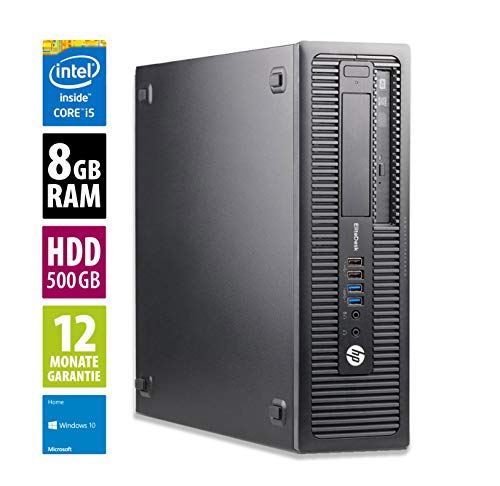 Ordinateur de Bureau HP EliteDesk 800 G1 SFF - Core i5-4570 @ 3,2 GHz - 8Go RAM - 500Go HDD - Graveur DVD - Win10 Home (Reconditionné)