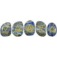 Harmonize Lapis Lazuli Trommelsteine Elemente Symbole Wiccan Pagan Set von 5 Stück preisvergleich bei billige-tabletten.eu