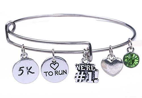 Edelstahl 5K Love to run WE 'RE # 1Charme Armreif Runner Sports Jewelry Bastelset für Mädchen