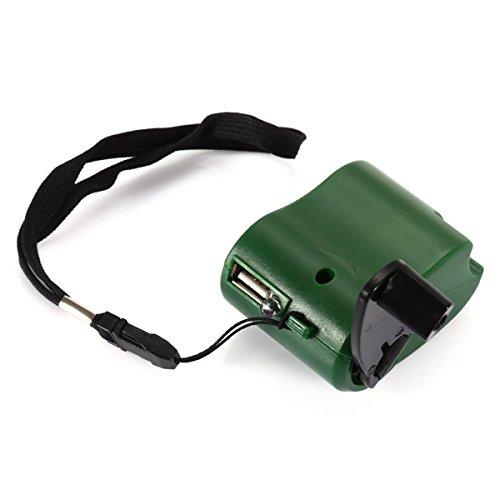 USB Handkurbel Notfall-Ladegerät mit LED Kontrollleuchte Beleuchtung für Handy Tablet portabel leicht tragbar - Beleuchtung, Kontrollleuchten