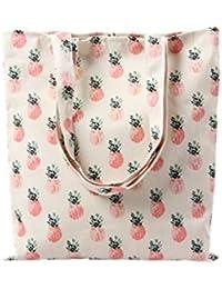 Incendemme Henkeltasche Tasche Schultertasche Multifunktion Einkaufsbeutel Beutel Shopper Bag Ananas Umweltschutz Stoffbeutel mit langem Henkel