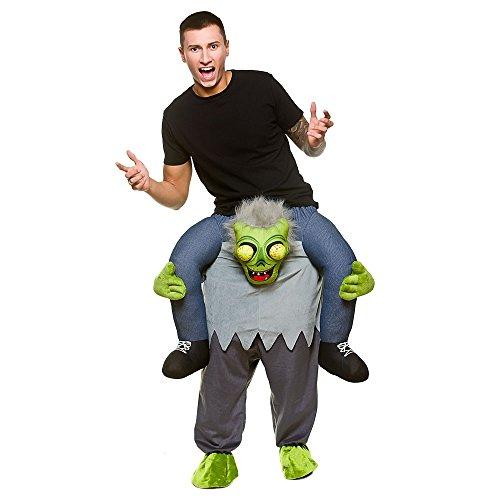 Carry Me® Zombie Erwachsene Kostüm One Size Fancy Dress (Kostüm Piggy Back)