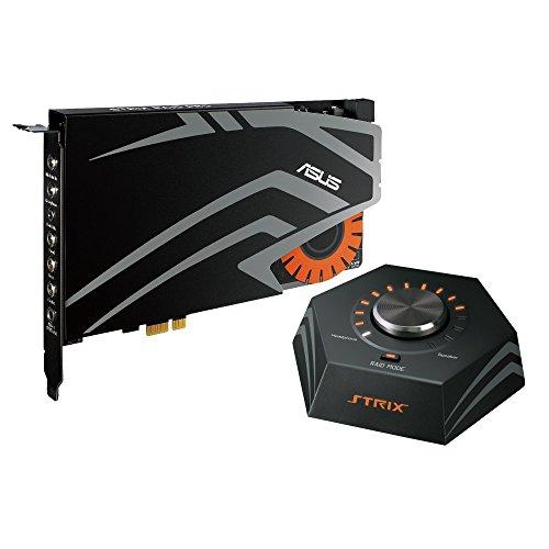 Asus Strix Raid Pro interne Gaming Soundkarte (PCI-Express, Kopfhörerverstärker, 116db SNR, Audio-Box)