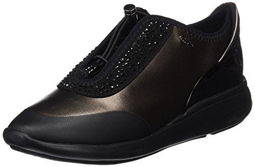 Geox d ophira e, scarpe da ginnastica basse donna, marrone (dk coffee/black), 39 eu (6 uk)