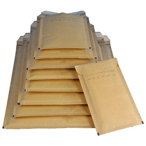 X 1 2 7 7 8 Umschläge 3 (100x Luftpolstertasche Versandtasche Umschlag Größe C/3 170x230mm braun DIN A5)