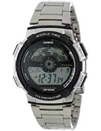 Casio AE1100WD-1A - Reloj de Pulsera Hombre, Acero Inoxidable, Color Plata