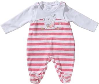 Stummer Baby - Mädchen Strampler 11137, Gr. 44, Mehrfarbig (892 pink melange)