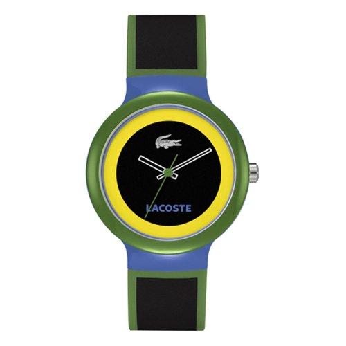 Lacoste 2020032 - Reloj analógico de cuarzo unisex con correa de silicona, color multicolor