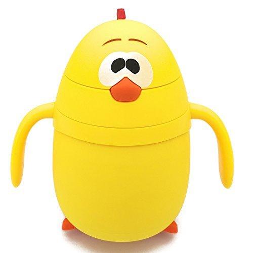 Wasser Flasche Thermos Fläschchen Drinkware mit Stroh BPA-frei Auslaufsicher Cute Cartoon gelb Chick für Kinder