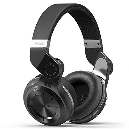 XZZ Drahtloses Headset V4.1 Ohrmuffs Bluetooth-Headset mit Mikrofon und Lautstärkeregelung HiFi Bass-Stereo-Headset unterstützt TF-Karte,Black