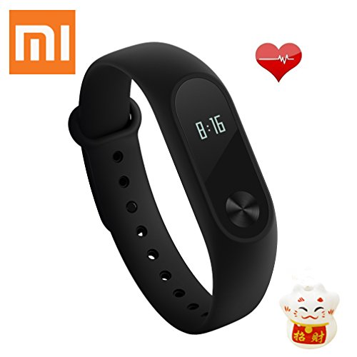 Xiaomi Mi Band 2 Fitnessarmband Sleeptracker Ip67 Smartwatch, Schwarz, One Size