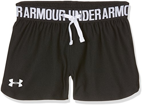 Under Armour Mädchen Play Up Shorts Kurze Hose, Schwarz, YXL