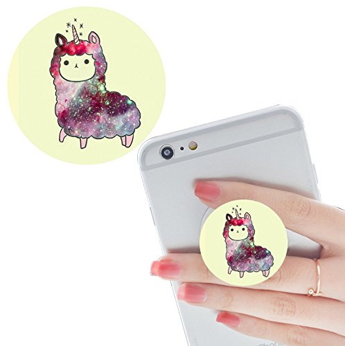 Smart Phone Expansion Ständer und Grip, Multifunktions Pop Handy Halter Halterung Universal Finger mit Anti-Fall Telefon Air Sac Smartphone socket Griff-Weiß rose-gold galaxy Galaxie einhorn Rosen Iphone 4 Fall