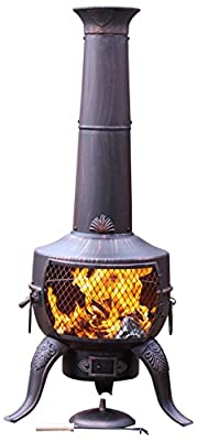 Gardeco Steelchi-7-br Large Tia Chimenea - Bronze by China