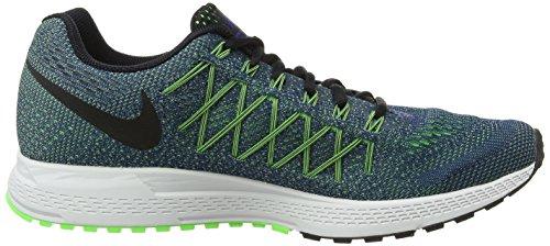 Nike Air Zoom Pegasus 32 Herren Laufschuhe Blau (Deep Royal Blue/Black-Ghost Green-Volatge Green)