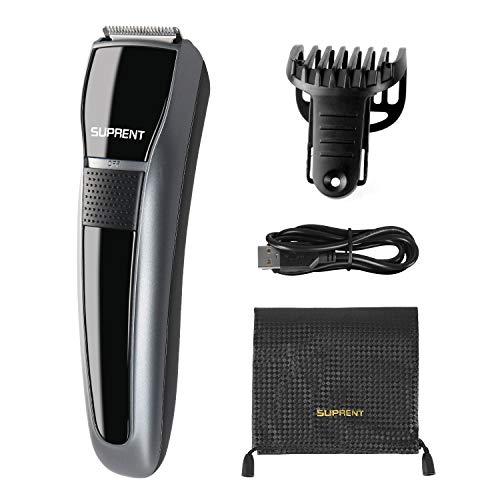 Bart Trimmer Herren, SUPRENT Bartschneider,Body Groomer mit Sicherheitsverschluss und 7 eingebaute einstellbare Längen USB-Ladefunktion