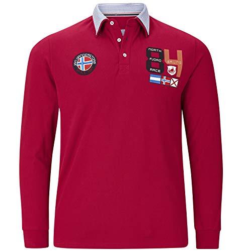 Jan Vanderstorm Herren Langarm Langarm-Poloshirt Trols rot L - 52/54