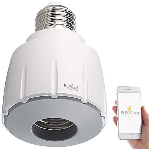 Luminea Home Control Funk-Lampenfassung: Smarte WLAN-E27-Lampenfassung, kompatibel mit Amazon Alexa & Google Assistant (WLAN-Lampensockel-Adapter E27) -
