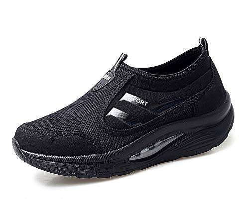 lovejin Scarpe Zeppa Platform Donna Running Scarpe da Ginnastica Sportive  Mesh Dimagranti Fitness Sneakers Moda Casual 2f9fff2514e