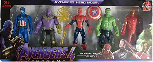 FunkeyTM Avengers Toys Set- Action Figure Toys Set of 5 Avengers ( Multicolor )