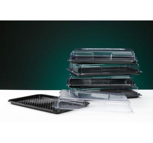 Foodpacks Online Plateau à nourriture Rectangulaire Plateau et couvercle Transparent 45 x 30cm