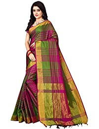 Leriya Fashion Cotton Silk Saree For Women's With Blouse Piece Material (S1115)