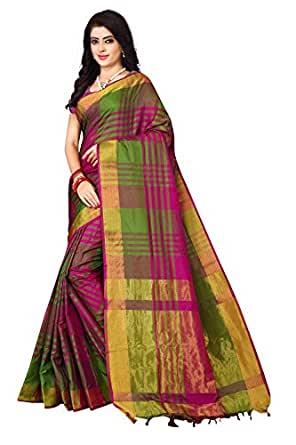 Nirmla Fashion Art Silk Saree with Blouse Piece (2019_multi-coloured_one size)
