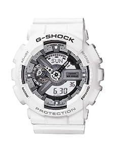Reloj de caballero CASIO G-Shock GA-110C-7AER de cuarzo, correa de resina color blanco de Casio