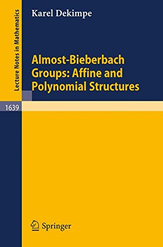 Almost-Bieberbach Groups: Affine and Polynomial Structures par Karel Dekimpe