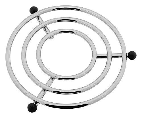 Rund Draht Metall Chrom Silber Topf Schüssel Topfuntersetzer, 23,5cm x 23,5cm x 2cm (Draht-schüssel Runde)