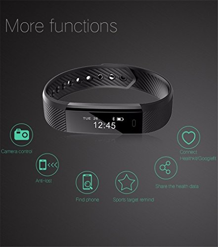 Torus-Pro-Very-Fit-Activity-Tracker-Smart-Watch-Smart-Band-Pedometer-and-Calorie-Counter-with-Bluetooth-Activity-Tracker-MensWomens-40-OLED-Screen-Smart-Fitness-Band-Activity-Tracker-compatible-with-i