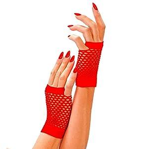 WIDMANN?Guantes de red sin dedos Womens, rojo, talla única, vd-wdm1489e
