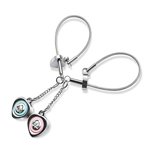 Preisvergleich Produktbild Gudeke Stilvolle Einfachheit Seelenfreund sagen Ich liebe dich Paar Schlüsselbund Schlüsselbund hängen ein Paar Schnalle