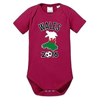 Wales 2016 Fan Baby Strampler by Shirtcity
