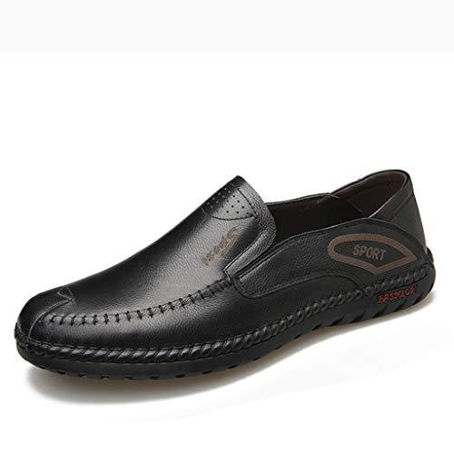 Loafer Weichen Sohlen Leder Schuhe (Henxizucun Driving Schuhe für Herren Mokassins Leder Loafers Leichte Mens Casual Loafer Weiche Sohle Wohnungen Bootsschuhe Klassische Büro Komfort Schuhe,Black,38)
