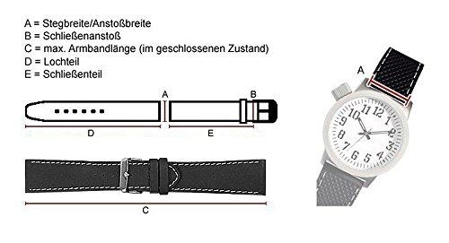 Uhrenarmband Leder schwarz 23mm passend zu Citizen Promaster Sky JZ1065-05E 28537
