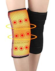 GAOWORD 1 Pair Self-heating knee pads Tourmaline Selfheating Kneepad Leggings Brace Band Magnetic Therapy Knee Massager Support Belt Leg Care Health Tool