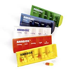 Anabox Daily Pill Organiser - Colours May Vary