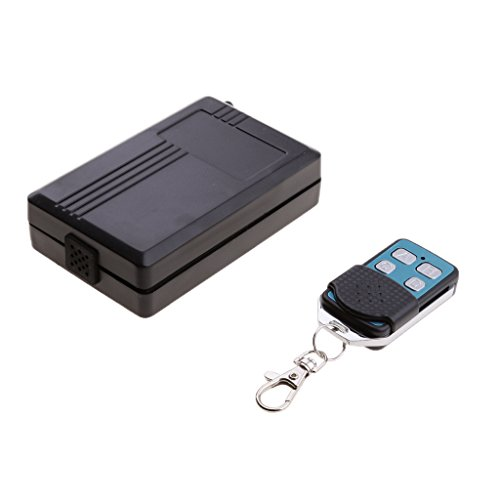 MagiDeal Sistema De Control Remoto Inalámbrico De 315 MHz AC 220v Receptor De 4 Canales + Interruptor De 4 Teclas