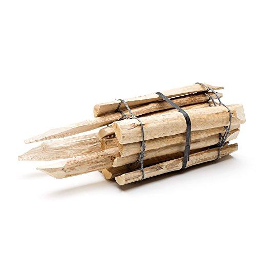 Beetumrandung Holz natürlicher steckzaun aus holz in 3 größen haselnuss mit