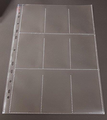 50x A4 Sammelhüllen, Prospekthüllen, Kartenhüllen, 120my, geteilt auf 9 Fächer (A8)