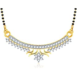 Meenaz Oxidized Silver Mangalsutra For Women Gold-MSP728