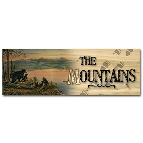 WGI-GALLERY 248Gebirge Serenity an der Twilight Holz Wand Art -