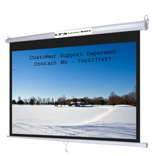 Luzon Dzire Pull Down Projector Screen, Size: - 7X5 Ft.(IN IMPORTED HIGH GAIN FABRIC A+++++ GRADE)