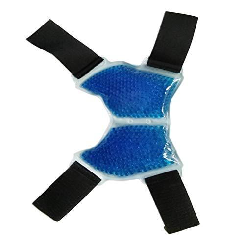 SUPVOX Eisbeutel Sprunggelenkbandage mit Gel Kühlkissen Kühlpads Fußgelenkbandage Fußbandage Knöchel Warm- & Kaltkompressen für Sport Arthritis Gelenkschmerzen Tendinitis (Blau)