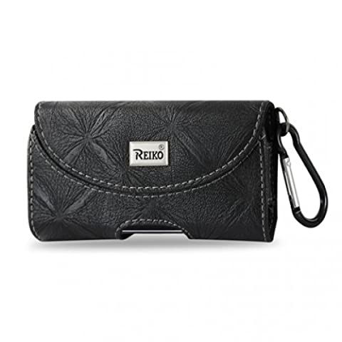 Reiko horizontal Pouch Hp146pour BlackBerry 8330–Noir