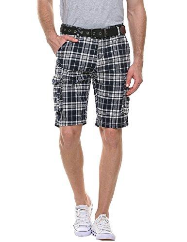 hotouch-herren-shorts-kariert-shorts-cargo-bermuda-shorts-kurze-hose-karo-shorts-baumwolle
